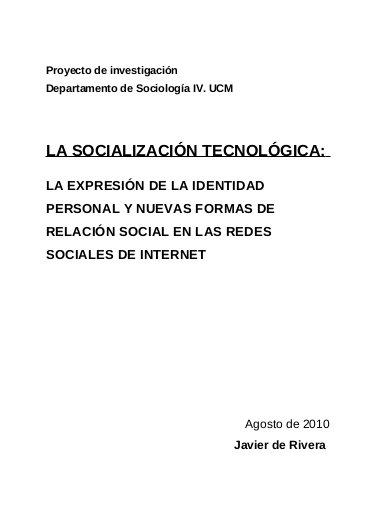 Tesis Redes Sociales